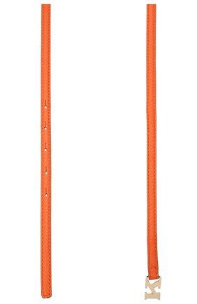 Женский кожаный ремень KITON оранжевого цвета, арт. DCK12L0X04R81 | Фото 2 (Материал: Кожа)