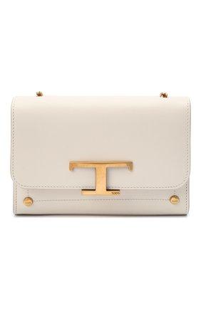 Женская сумка tsi TOD'S белого цвета, арт. XBWTSID0000R0R | Фото 1 (Сумки-технические: Сумки через плечо; Материал: Натуральная кожа; Размер: mini; Ремень/цепочка: На ремешке, С цепочкой)