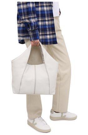 Женский сумка-шопер aou TOD'S белого цвета, арт. XBWA0UA0200UCA   Фото 2