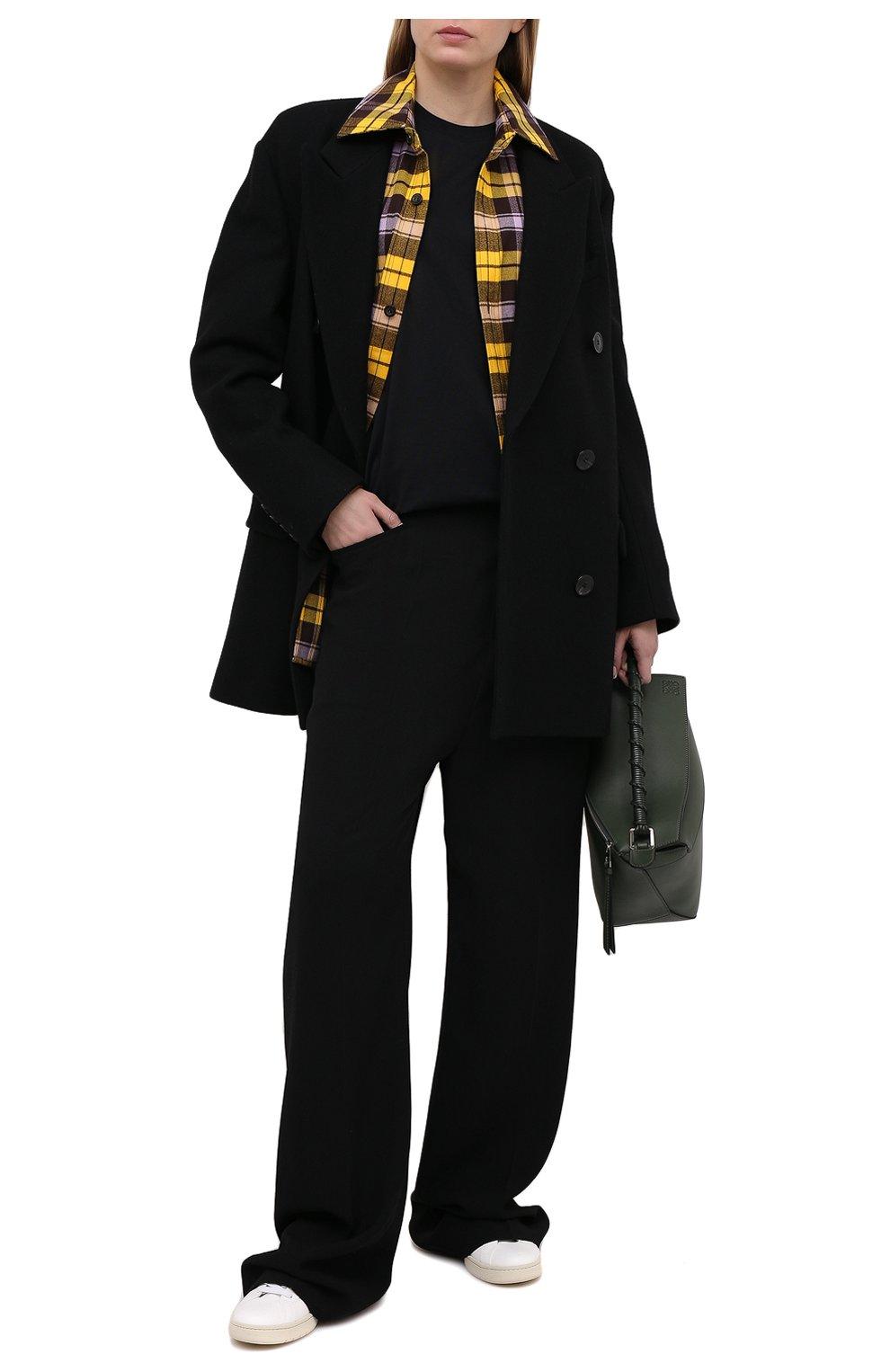 Женская хлопковый лонгслив ACNE STUDIOS черного цвета, арт. CL0087/W | Фото 2