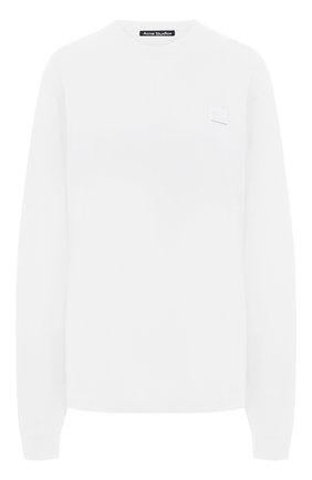 Женская хлопковый лонгслив ACNE STUDIOS белого цвета, арт. CL0087/W   Фото 1