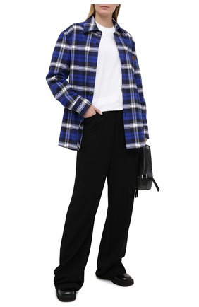 Женская хлопковая рубашка ACNE STUDIOS синего цвета, арт. CB0027/W   Фото 2