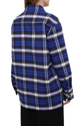 Женская хлопковая рубашка ACNE STUDIOS синего цвета, арт. CB0027/W   Фото 4