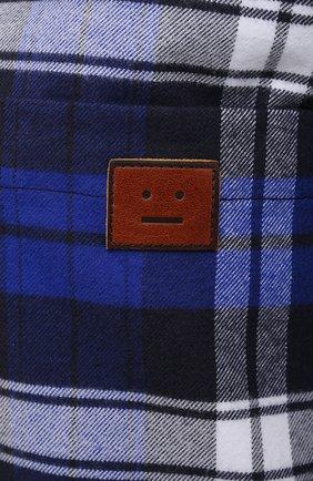 Женская хлопковая рубашка ACNE STUDIOS синего цвета, арт. CB0027/W   Фото 5