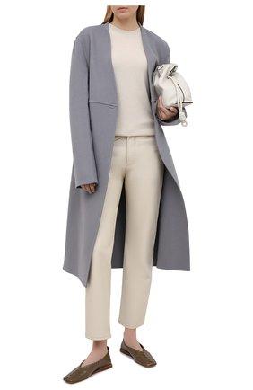 Женский шерстяной пуловер ACNE STUDIOS кремвого цвета, арт. C60025/W   Фото 2