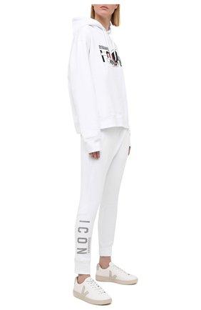 Женские хлопковые джоггеры DSQUARED2 белого цвета, арт. S80KA0009/S25042 | Фото 2