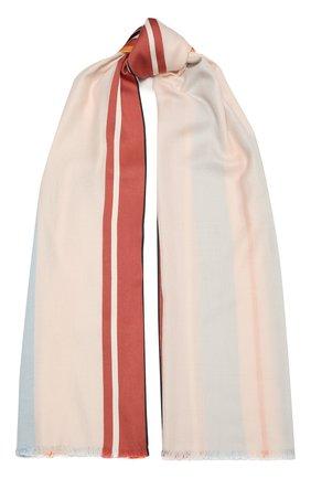Женская шаль из шелка и шерсти LORO PIANA светло-розового цвета, арт. FAL3970   Фото 1