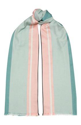 Женская шаль из шелка и шерсти LORO PIANA светло-зеленого цвета, арт. FAL3970   Фото 1