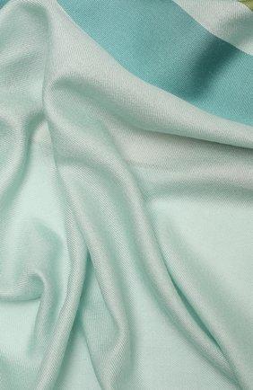 Женская шаль из шелка и шерсти LORO PIANA светло-зеленого цвета, арт. FAL3970   Фото 2