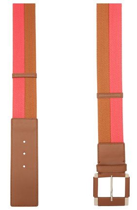 Женский текстильный пояс LORO PIANA розового цвета, арт. FAL6513   Фото 2 (Кросс-КТ: Широкие; Материал: Текстиль)