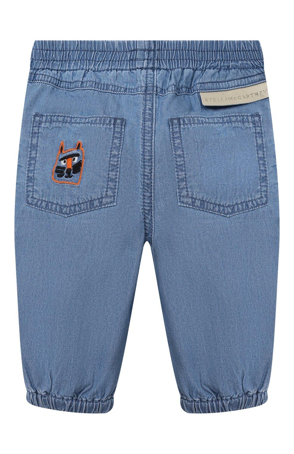 Детские джинсы STELLA MCCARTNEY синего цвета, арт. 602372/SQK16   Фото 2