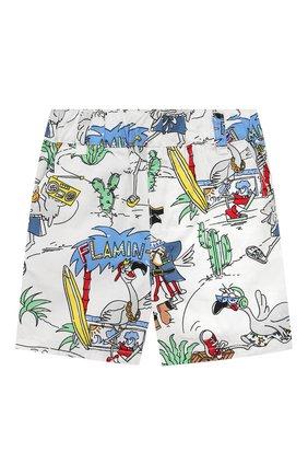 Детские хлопковые шорты STELLA MCCARTNEY разноцветного цвета, арт. 602371/SQK03 | Фото 1