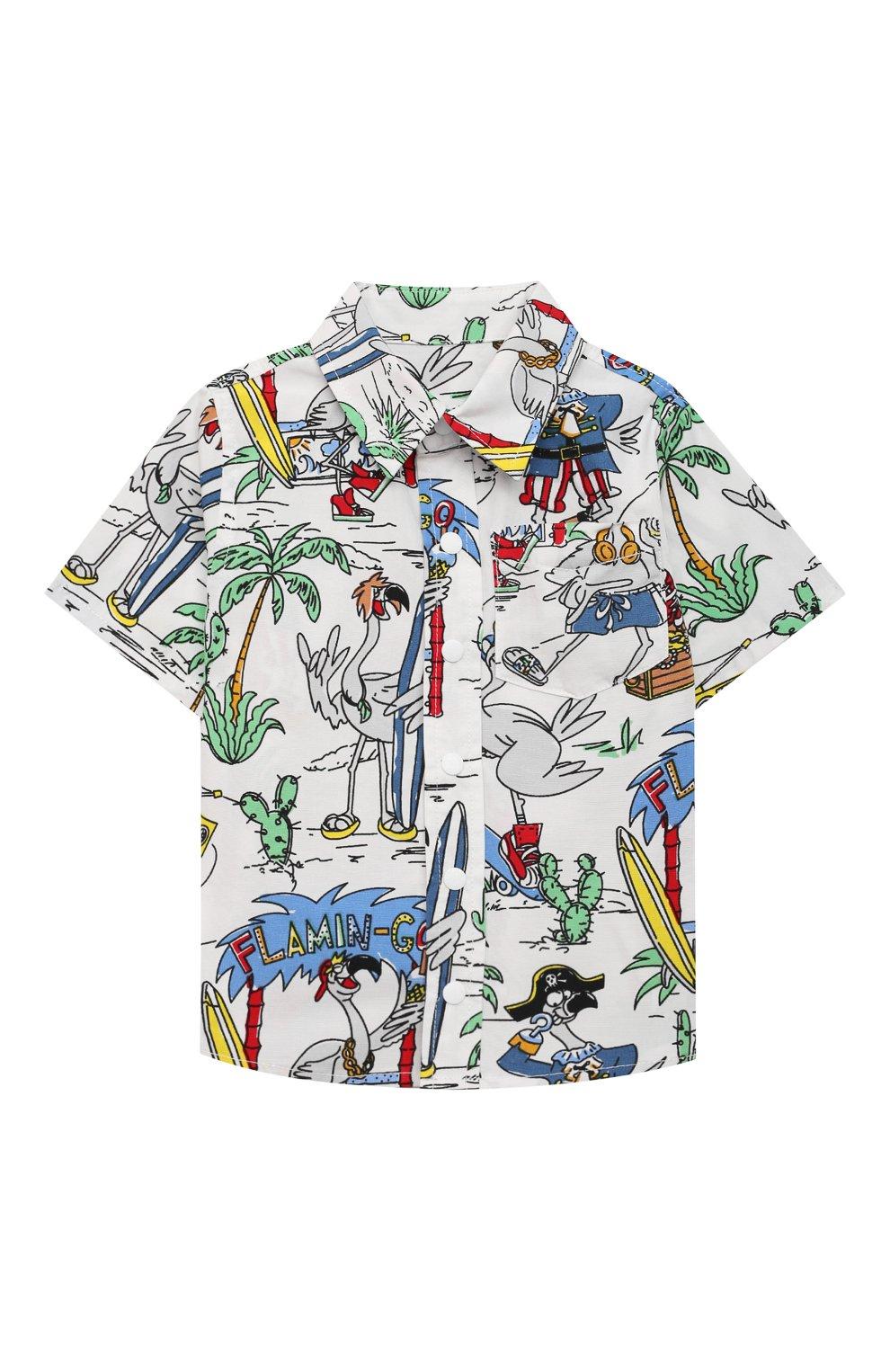 Детский хлопковая рубашка STELLA MCCARTNEY разноцветного цвета, арт. 602353/SQK03 | Фото 1