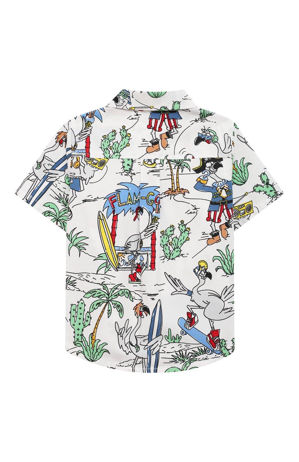 Детский хлопковая рубашка STELLA MCCARTNEY разноцветного цвета, арт. 602353/SQK03 | Фото 2