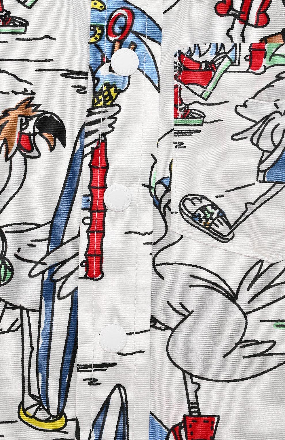 Детский хлопковая рубашка STELLA MCCARTNEY разноцветного цвета, арт. 602353/SQK03 | Фото 3