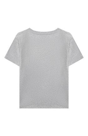 Детская хлопковая футболка MOSCHINO серого цвета, арт. H0M02X/LBA10/10A-14A | Фото 2
