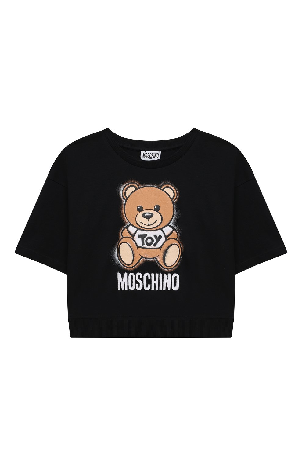 Детский комплект из футболки и юбки MOSCHINO черного цвета, арт. HDG004/LDB48/10A-14A   Фото 2