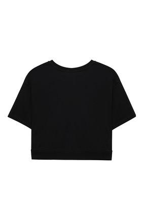 Детский комплект из футболки и юбки MOSCHINO черного цвета, арт. HDG004/LDB48/10A-14A   Фото 3