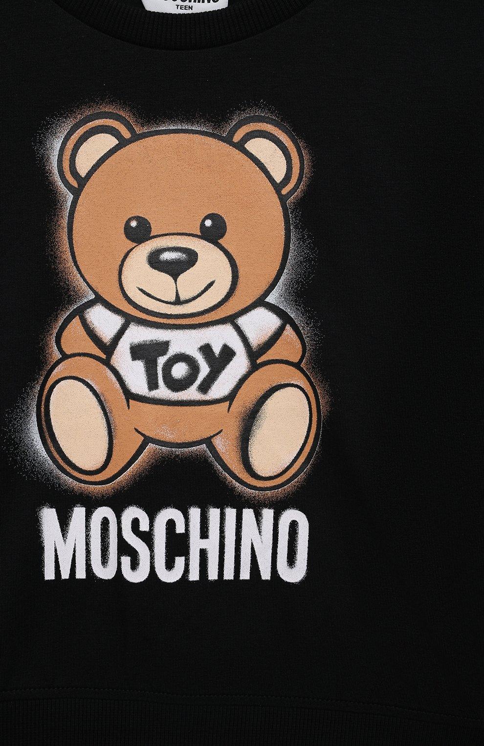 Детский комплект из футболки и юбки MOSCHINO черного цвета, арт. HDG004/LDB48/10A-14A   Фото 6