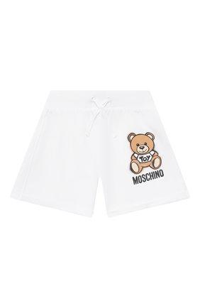 Детские хлопковые шорты MOSCHINO белого цвета, арт. HDQ007/LDA13/10A-14A | Фото 1