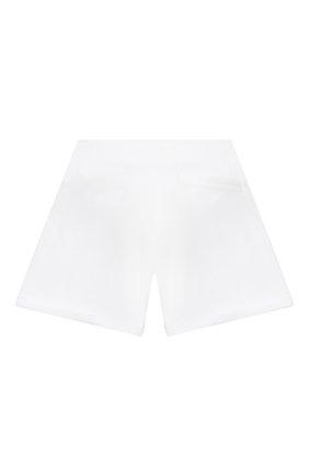 Детские хлопковые шорты MOSCHINO белого цвета, арт. HDQ007/LDA13/10A-14A | Фото 2