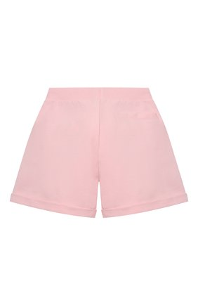 Детские хлопковые шорты MOSCHINO розового цвета, арт. HDQ007/LDA13/10A-14A | Фото 2