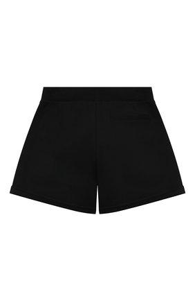 Детские хлопковые шорты MOSCHINO черного цвета, арт. HDQ007/LDA13/10A-14A | Фото 2