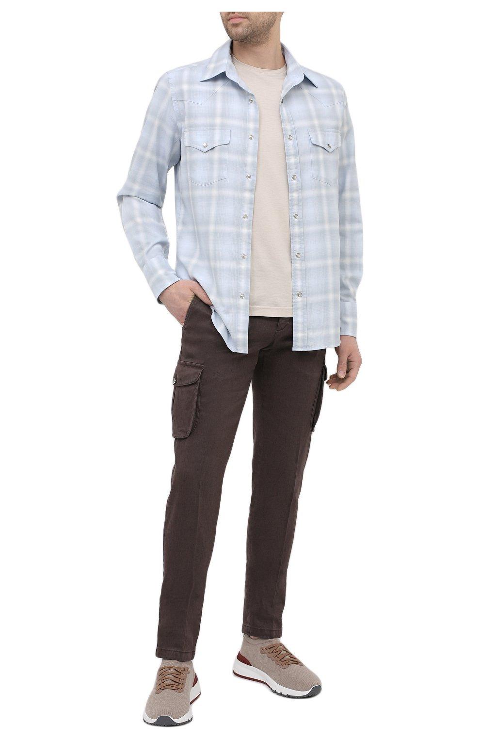 Мужская хлопковая рубашка TOM FORD светло-голубого цвета, арт. 9FT113/94MEKI | Фото 2