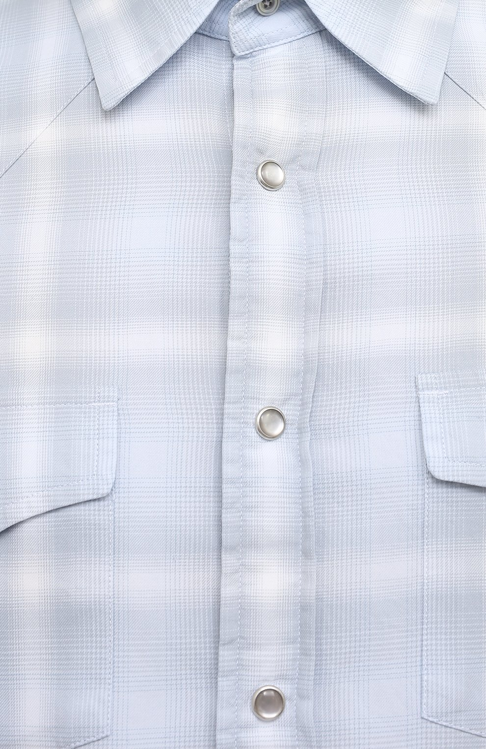 Мужская хлопковая рубашка TOM FORD светло-голубого цвета, арт. 9FT113/94MEKI | Фото 5