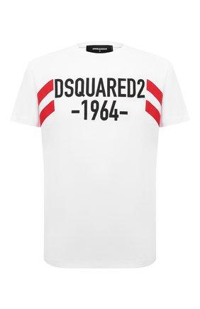Мужская хлопковая футболка DSQUARED2 белого цвета, арт. S74GD0805/S22427   Фото 1
