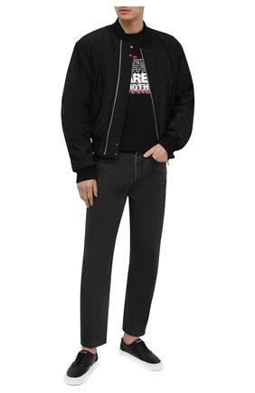 Мужская хлопковая футболка DSQUARED2 черного цвета, арт. S74GD0811/S22427   Фото 2