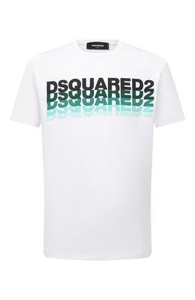 Мужская хлопковая футболка DSQUARED2 белого цвета, арт. S74GD0814/S22427   Фото 1