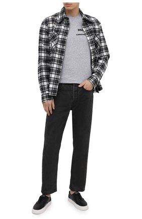 Мужская футболка из хлопка и вискозы DSQUARED2 серого цвета, арт. S74GD0821/S22146   Фото 2