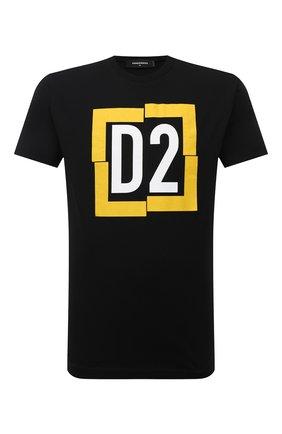 Мужская хлопковая футболка DSQUARED2 черного цвета, арт. S74GD0826/S22427   Фото 1