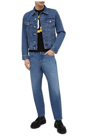 Мужская хлопковая футболка DSQUARED2 черного цвета, арт. S74GD0826/S22427   Фото 2