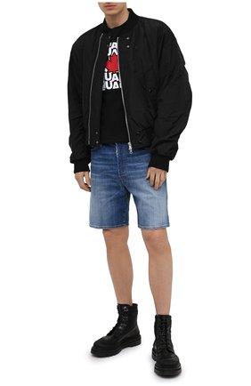 Мужская хлопковая футболка DSQUARED2 черного цвета, арт. S74GD0827/S22427   Фото 2
