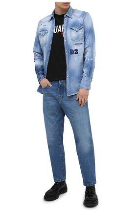 Мужская хлопковая футболка DSQUARED2 черного цвета, арт. S74GD0828/S22427   Фото 2