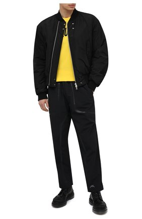 Мужская хлопковая футболка DSQUARED2 желтого цвета, арт. S74GD0834/S21600   Фото 2 (Стили: Гранж; Принт: С принтом; Рукава: Короткие; Длина (для топов): Стандартные; Материал внешний: Хлопок)