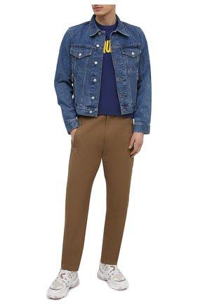Мужская хлопковая футболка DSQUARED2 темно-синего цвета, арт. S74GD0834/S21600 | Фото 2 (Длина (для топов): Стандартные; Материал внешний: Хлопок; Стили: Гранж; Принт: С принтом; Рукава: Короткие)