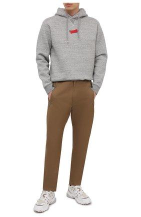 Мужской хлопковое худи DSQUARED2 серого цвета, арт. S74GU0493/S25148 | Фото 2 (Стили: Гранж; Длина (для топов): Стандартные; Принт: С принтом; Материал внешний: Хлопок; Рукава: Длинные; Мужское Кросс-КТ: Худи-одежда)