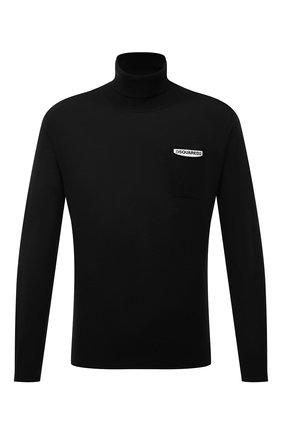 Мужской шерстяная водолазка DSQUARED2 черного цвета, арт. S74HA1123/S16794   Фото 1