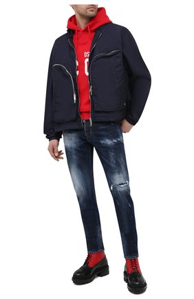Мужские джинсы DSQUARED2 темно-синего цвета, арт. S74LB0932/S30664   Фото 2
