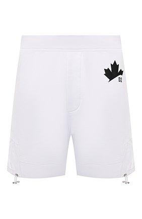 Мужские хлопковые шорты DSQUARED2 белого цвета, арт. S74MU0641/S25042   Фото 1