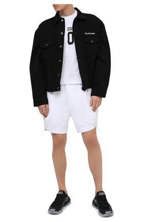 Мужские хлопковые шорты DSQUARED2 белого цвета, арт. S74MU0641/S25042   Фото 2