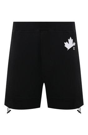 Мужские хлопковые шорты DSQUARED2 черного цвета, арт. S74MU0641/S25042   Фото 1