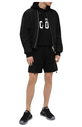 Мужские хлопковые шорты DSQUARED2 черного цвета, арт. S74MU0641/S25042   Фото 2