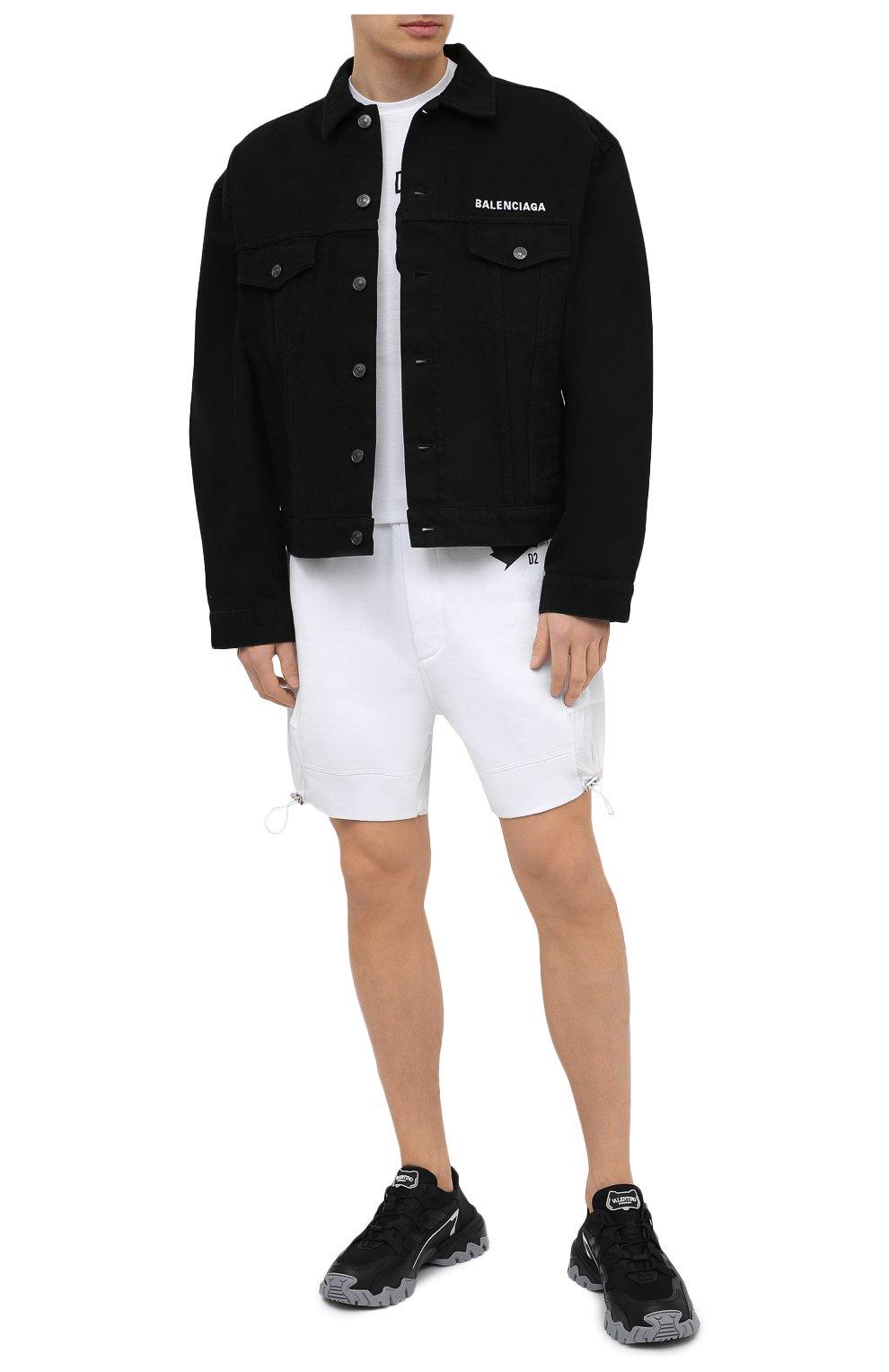 Мужская хлопковая футболка DSQUARED2 белого цвета, арт. S79GC0003/S23009   Фото 2 (Рукава: Короткие; Длина (для топов): Стандартные; Стили: Гранж; Принт: С принтом; Материал внешний: Хлопок)