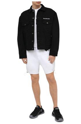Мужская хлопковая футболка DSQUARED2 белого цвета, арт. S79GC0003/S23009 | Фото 2 (Материал внешний: Хлопок; Длина (для топов): Стандартные; Рукава: Короткие; Принт: С принтом; Стили: Гранж)