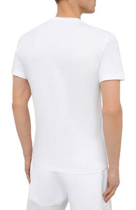 Мужская хлопковая футболка DSQUARED2 белого цвета, арт. S79GC0003/S23009   Фото 4 (Рукава: Короткие; Длина (для топов): Стандартные; Стили: Гранж; Принт: С принтом; Материал внешний: Хлопок)