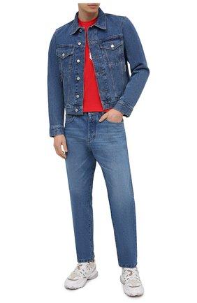 Мужская хлопковая футболка DSQUARED2 красного цвета, арт. S79GC0003/S23009   Фото 2